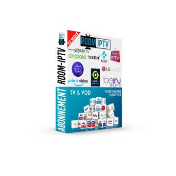 ROOM IPTV I N°1 EN EUROPE Abonnement IPTV